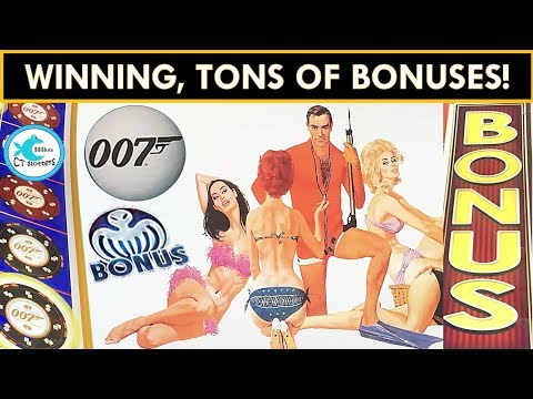 ★NEW SLOT★ JAMES BOND  THUNDERBALL SLOT MACHINE! Mr. CT takes on 007 and WINS!