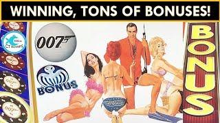 ★NEW SLOT★ JAMES BOND - THUNDERBALL SLOT MACHINE! Mr. CT takes on 007 and WINS!