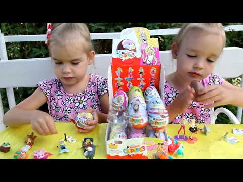#2 Киндеры Barbie Распаковка КОРОБКИ Киндер Сюрприз Барби коробка Kinder Surprise Игрушки для детей