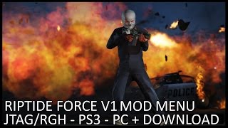 "GTA 5 ONLINE - RIPTIDE ""ULTRA"" FORCE MOD MENU - XBOX 360, PS3, PC (GTA V MODS)[+DOWNLOAD][1.27/1.32]"