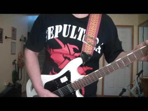 When Guitarist plays UR BASS VI RefuseResist Chaos AD Sepultura guitar cover