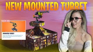 Fortnite - NEW MOUNTED TURRET. Deployable Glider Removed! Update Soon. :)