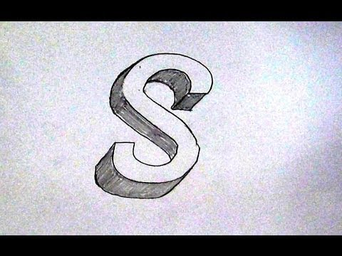How To Write Letter S in 3D / Easy 3D Sketch Tutorial For Kids - YouTube