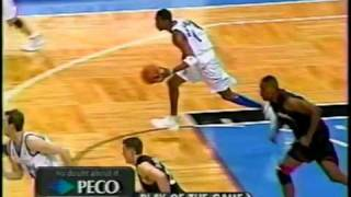 McGrady collects his 1st career triple-double vs Allen Iverson (2001-2002)