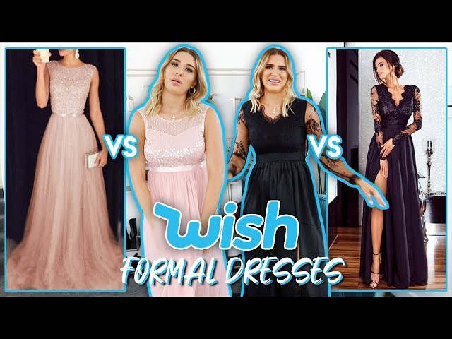 Trying On Wish Formal Dresses | FALSE ADVERTISING??