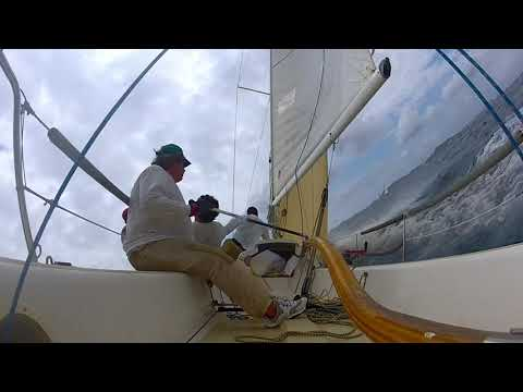 Sailing the British Virgin Island, Tortola , J80 Sun Bum 2 .