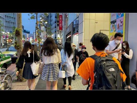 【4K】Tokyo Evening Walk - From Shibuya to Omote-sando, 2020