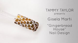 ❤ Tammy Taylor Gingerbread House Nail Design by Gisela Marti