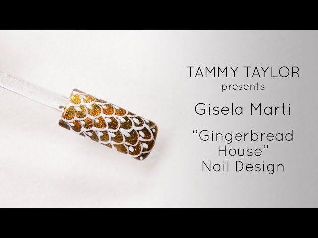❤ Gingerbread House Nail Design by Gisela Marti