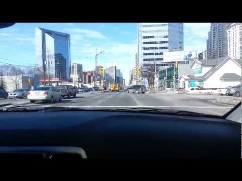 Driving around Toronto, 401, Yonge Street in North York