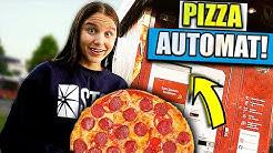 Ich teste einen PIZZA AUTOMATEN ! 🍕(wie schmeckt das ?) - Celina