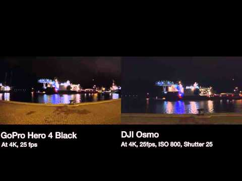 DJI Osmo Vs GoPro Hero 4 Black Low Light ComparisonDJI Comparison