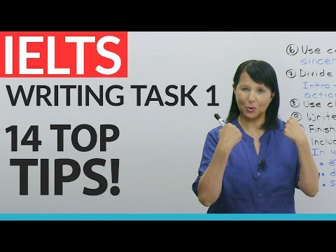 IELTS General: Writing Task 1  – 14 Top Tips!
