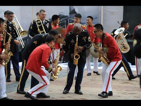 U.S. and Korean Army Bands Perform at Pyeongtaek Station