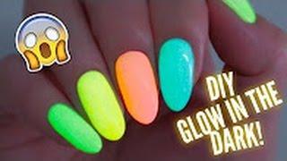 halloween diy glow in the dark nail polish