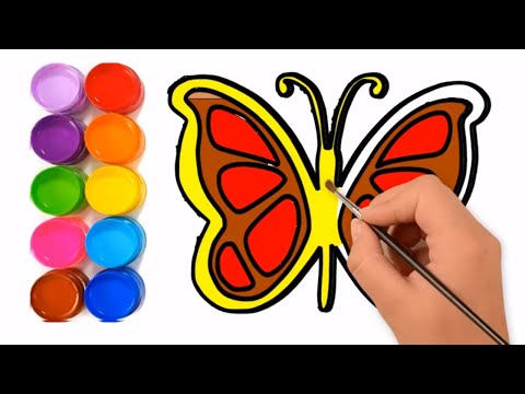 Butterfly drawing & coloring Video Step by step    M Toy Art