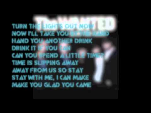 Glad You Came Instrumental With Lyrics- The Wanted