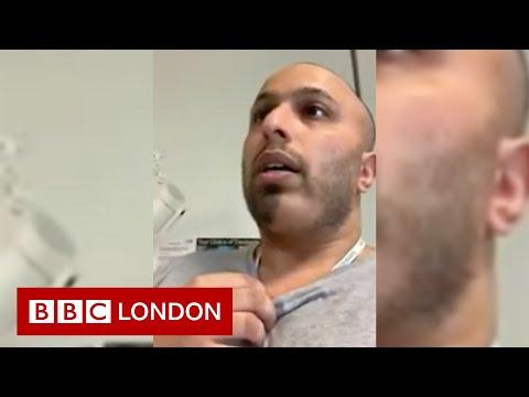 Doctor demonstrates breathing