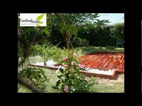 Terrasse bois exotique et galets youtube - Terrasse galets blancs ...