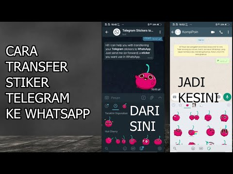 CARA TRANSFER STIKER TELEGRAM KE WHATSAPP