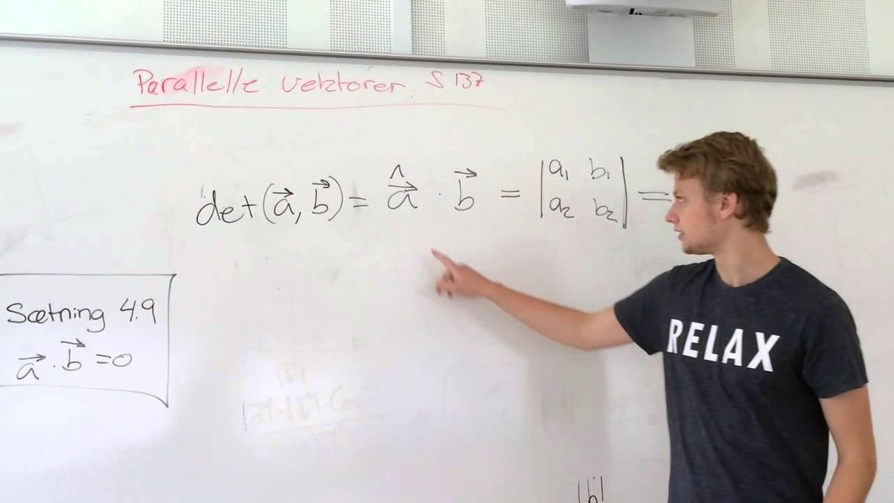 Parallelle vektorer sætning 5.4 side 137