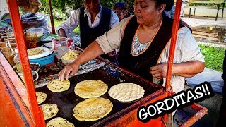 WONDERFUL Mexican Street Food!!! - Gorditas in Central Mexico - Best Street Food In The World!!!