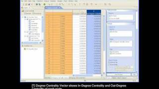 Social Network Analysis Software -  NetMiner  : 2.7.2 Generating Analysis Result - Degree Centrality