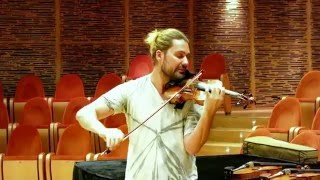 DAVID GARRETT at Museo del Violino in Cremona trying different violins:  which could be the best?