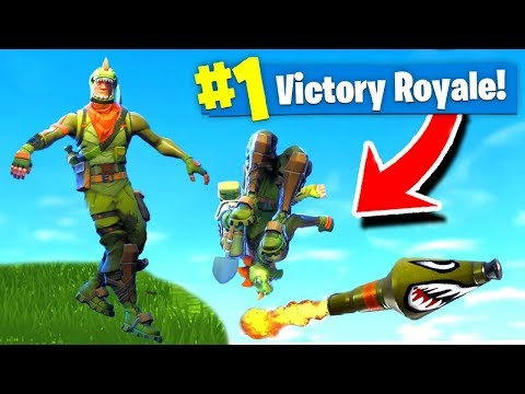 BACKFLIPPING On A ROCKET RIDE! Fortnite: Battle Royale