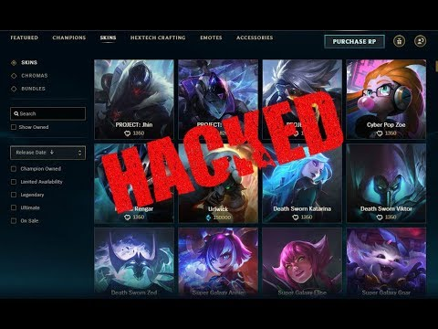 How to get any League of Legends skin completely for FREE! 2018 lol skin hack v7.23