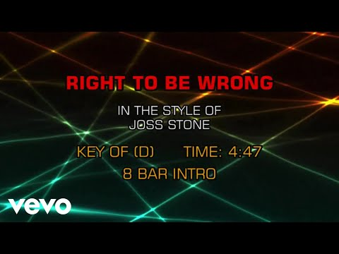Joss Stone - Right To Be Wrong (Karaoke)