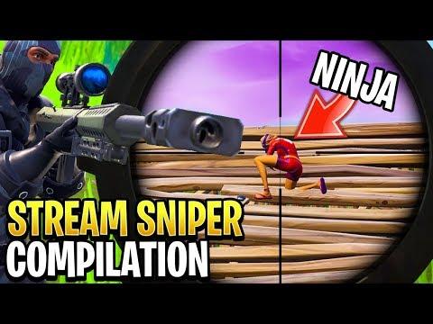 Best Fortnite 'Stream Sniper' Compilation!