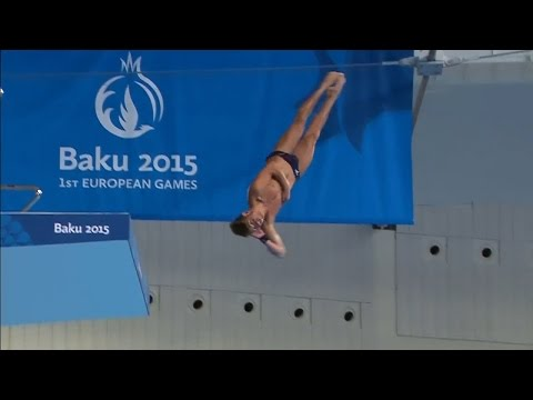 Baku 2015 European Games - Men's 10m Platform - Preliminary, rounds 7 to 9 - in English.