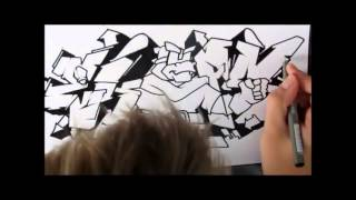 How to draw Graffiti (EKPS) by Aske