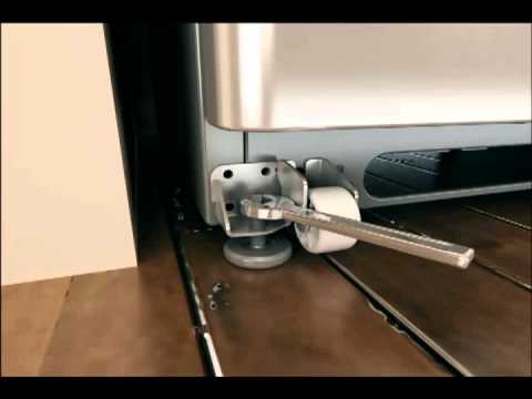 Align & Level Doors on French Door Refrigerator with Non-Adjustable Rollers
