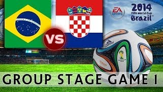 [TTB] 2014 FIFA World Cup Brazil - Brazil Vs Croatia - Group Stage Game 1 - Ep1