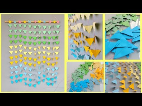 how to make easy Paper Wall hanging | Wall Decor - YouTube