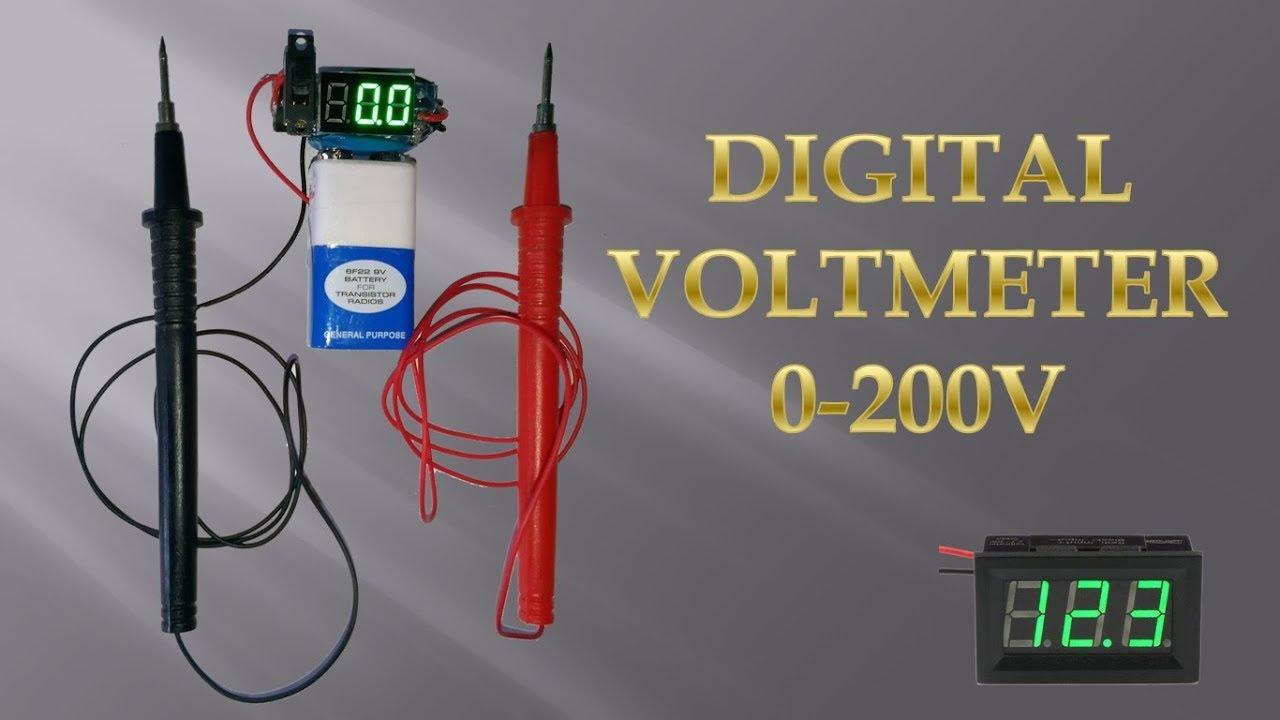 Mini Digital Voltmeter Youtube Circuit Diagram Minivoltmeter