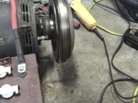 Electric Motor Connected To Clutch