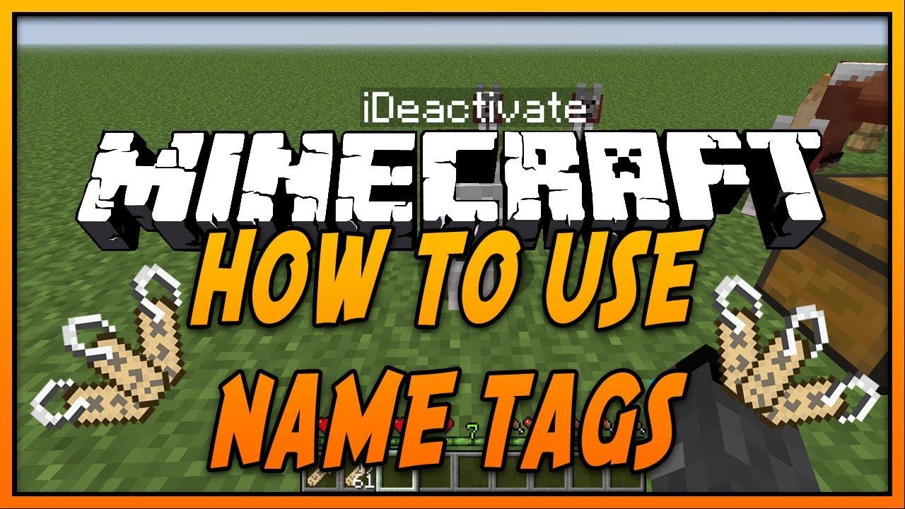 Name Tag Minecraft ✓ how to use name tags in minecraft - youtube