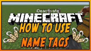 ✔ How To Use Name Tags in Minecraft