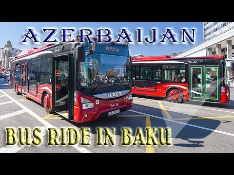Bus ride in Baku,Azerbaijan -To the Caspian Sea ep 22 -Trave