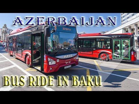 Bus ride in Baku,Azerbaijan -To the Caspian Sea ep 22 -Travel vlog calatorii tourism video
