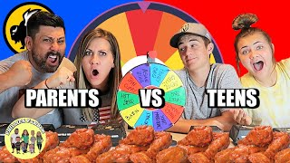 MYSTERY WHEEL CHALLENGE |  BUFFALO WILD WINGS HOT WINGS ROULETTE | PHILLIPS FamBam Challenges