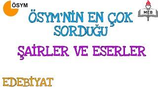 EDEBİYATTA EN ÇOK SORULAN ŞAİRLER VE ESERLERİ | SINAVDAN ÖNCE MUTLAKA!!! (ÖNEMLİ AYRINTILARLA)