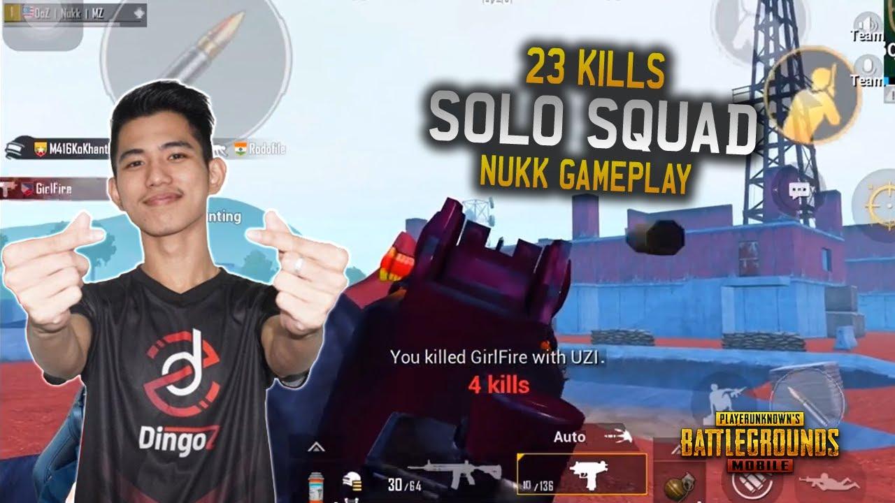 Gameplay Solo vs Squad !! 23 Kills | Dingoz Nukk Mengamok - PUBG Mobile