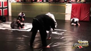Teenage blue belts taps BJJ black belt twice their age *