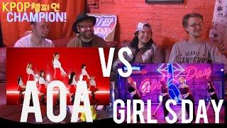 KPOPCHAMPION EP2:AOA - 짧은 치마 (Miniskirt) VS GIRL'S DAY - SOMETHING(썸씽)  ( REACTION DRINKING SHOW)