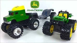 JOHN DEERE MONSTER SEMI HAULER WITH  ANIMAL PLANET FARM  - UNBOXING MIGHTY MACHINES ERTL