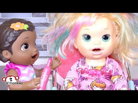 Baby Alive Beauty Salon!  Haircuts, Hair Color, Spa Treatments and More!
